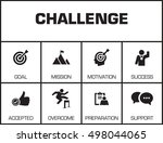 challenge. chart with keywords...   Shutterstock .eps vector #498044065