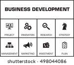 business development. chart... | Shutterstock .eps vector #498044086