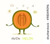 illustration with funny... | Shutterstock .eps vector #498049096