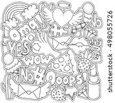 coloring book page for adult... | Shutterstock .eps vector #498055726