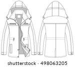 vector of winter jacket. men's...   Shutterstock .eps vector #498063205