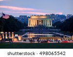 sunset at the national mall in... | Shutterstock . vector #498065542