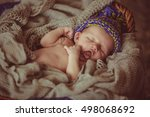 incredible and sweet newborn... | Shutterstock . vector #498068692