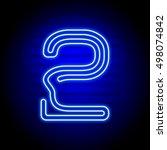 realistic blue neon numbers.... | Shutterstock .eps vector #498074842