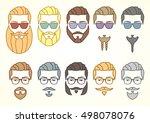 vector illustration. set of... | Shutterstock .eps vector #498078076