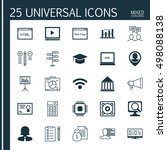 set of 25 universal icons on... | Shutterstock .eps vector #498088138