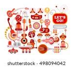 electronic music concert vector ... | Shutterstock .eps vector #498094042
