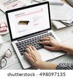 shopping internet digital... | Shutterstock . vector #498097135