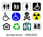 information signs   icons... | Shutterstock . vector #4981003