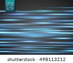 abstract blue neon blurry... | Shutterstock .eps vector #498113212