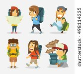 set of vector illustration of... | Shutterstock .eps vector #498114235