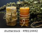 Handmade Candle With Herbal An...