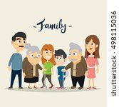 big family together vector... | Shutterstock .eps vector #498115036