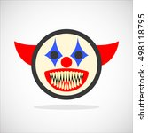 Creepy Clown. Evil Scary...