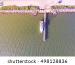 aerial view of small rustic... | Shutterstock . vector #498128836