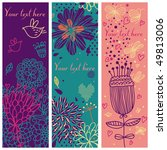 floral banners with birds and... | Shutterstock .eps vector #49813006