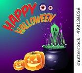 happy halloween  halloween... | Shutterstock .eps vector #498136036