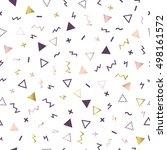 geometric seamless pattern... | Shutterstock .eps vector #498161572