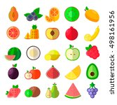 set of cartoon food icons. ... | Shutterstock .eps vector #498161956