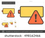 discharged battery vector line... | Shutterstock .eps vector #498162466