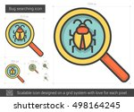 bug searching vector line icon... | Shutterstock .eps vector #498164245