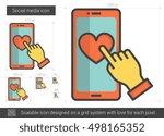 social media vector line icon... | Shutterstock .eps vector #498165352