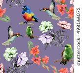 beautiful seamless pattern of... | Shutterstock . vector #498166072