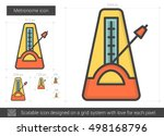 Metronome Vector Line Icon...