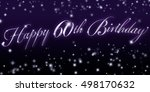 60th birthday banner   great... | Shutterstock . vector #498170632