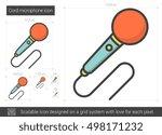cord microphone vector line... | Shutterstock .eps vector #498171232