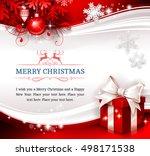 vector vintage christmas...   Shutterstock .eps vector #498171538