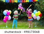 kids birthday party. group of... | Shutterstock . vector #498173068