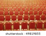 chairs in the auditorium | Shutterstock . vector #49819855