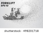 forklift of the particles. the... | Shutterstock .eps vector #498201718
