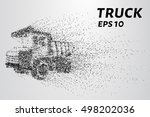 truck of the particles. a huge... | Shutterstock .eps vector #498202036