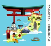 discover japan and japanese... | Shutterstock .eps vector #498204922