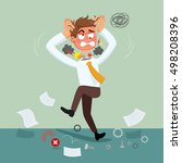 cartoon error businessman fail... | Shutterstock .eps vector #498208396