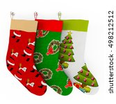 Colored Christmas Stockings On...