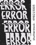 glitched error message art... | Shutterstock .eps vector #498215005
