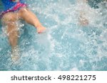 kids swim with a splash in the...   Shutterstock . vector #498221275