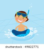 Pool party clip art vector pool party 923 graphics for Free clipart swimming pool party