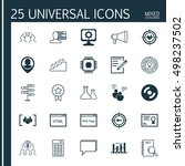 set of 25 universal icons on... | Shutterstock .eps vector #498237502