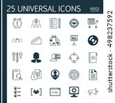 set of 25 universal icons on... | Shutterstock .eps vector #498237592
