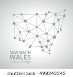 new south wales vector triangle ... | Shutterstock .eps vector #498242242