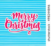 merry christmas greeting card.... | Shutterstock .eps vector #498244846