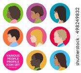 various children profile set ... | Shutterstock .eps vector #498249832