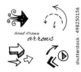 doodle vector arrows set... | Shutterstock .eps vector #498250156
