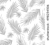 seamless pattern with brush... | Shutterstock .eps vector #498254506
