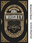 old whiskey label | Shutterstock .eps vector #498254908
