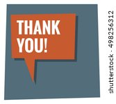 thank you  in speech bubble ... | Shutterstock .eps vector #498256312